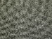 German Wool Blend Chenille Suiting Dress Fabric  Black & Sage
