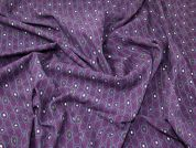 Geometric Print Cotton Corduroy Dress Fabric  Plum