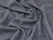 Stripe Wool Coating Fabric  Grey