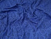 Textured Knit Fabric  Blue