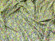 Liberty London Liberty Leaf Print Cotton Lawn Dress Fabric  Green & Navy