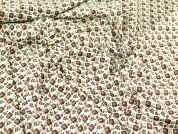 Squares Print Cotton Lawn Dress Fabric  Wine & Green