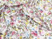 Messy Floral Cotton Lawn Dress Fabric  Multicoloured