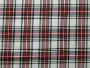 Woven Plaid Check Twill Suiting Dress Fabric  Cream Multi