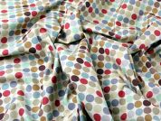 Spots Print Soft Cotton Canvas Dress Fabric  Multicoloured