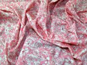 Liberty Floral Print Cotton Lawn Dress Fabric  Pink