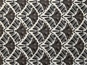 Geometric Vinyl PVC Coated Cotton Fabric  Brown