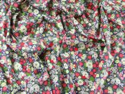Busy Floral Print Cotton Lawn Dress Fabric  Multicoloured