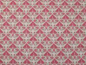Repeat Print Cotton Lawn Dress Fabric  Pink