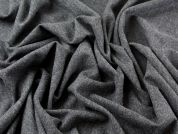 Wool & Cashmere Herringbone Suiting Dress Fabric  Dark Grey