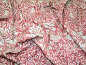 Brer Rabbit William Morris Print Cotton Dress Fabric  Rose & Camel