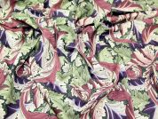 Acanthus Print Cotton Dress Fabric  Multicoloured