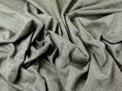 Wool & Cashmere Herringbone Suiting Dress Fabric  Olive Green
