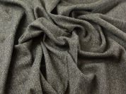 100% Wool Herringbone Suiting Dress Fabric  Olive Green