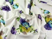 Floral Linen & Viscose Blend Dress Fabric  Cream