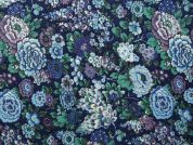 Floral Print Cotton Lawn Dress Fabric  Blue