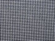 Gingham Check Seersucker Cotton Dress Fabric  Navy Blue
