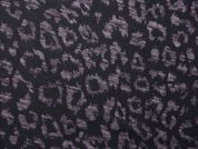 Burn Out Animal Print Stretch Jersey Knit Dress Fabric  Purple