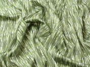 Patterned Slinky Satin Print Dress Fabric  Green