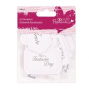 DoCrafts All Occasion Sentiments  White