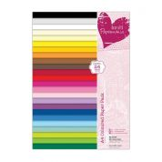 DoCrafts Plain Paper Pack  Assorted Colours