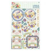 DoCrafts Folk Floral A4 Decoupage Pack Laugh