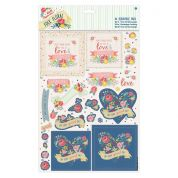 DoCrafts Folk Floral A4 Decoupage Pack Youre The Best