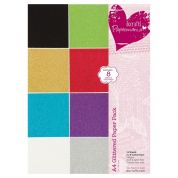 DoCrafts Glittered Paper Pack  Assorted Colours