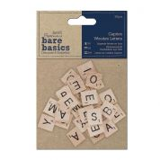 DoCrafts Bare Basics Caption Wooden Letters  Natural