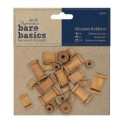 DoCrafts Bare Basics Wooden Bobbins  Natural