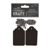 DoCrafts Chalkboard Gift Tags & Twine