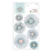 DoCrafts Eau de Nil Pin Wheels  Light Green