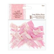 DoCrafts Wild Rose Large Ribbon Bows  Pink