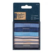 DoCrafts Co-Ordinating Ribbons 1m  Denim Blue
