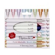 DoCrafts Fluid Metallic Brush Marker Pens  Assorted Colours