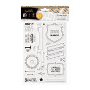 DoCrafts Mr Mister Clear Stamp Set Text