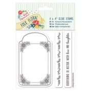 DoCrafts Folk Floral A5 Clear Stamp Tag