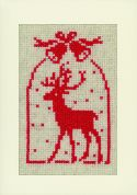 Vervaco Cross Stitch Kit Christmas Symbols Card Set