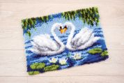 Vervaco Latch Hook Rug Kit Swans