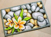 Vervaco Cross Stitch Rug Kit Frangipani