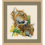 Vervaco Counted Cross Stitch Kit Leopard Duo