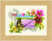 Vervaco Counted Cross Stitch Kit Postage Stamp 2012