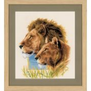 Vervaco Counted Cross Stitch Kit Lion Duo