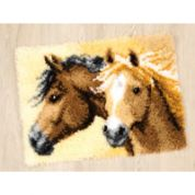 Vervaco Latch Hook Rug Kit Horses