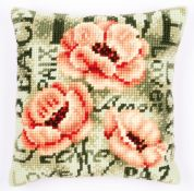 Vervaco Cross Stitch Cushion Kit Poppy
