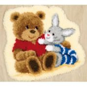 Vervaco Latch Hook Rug Kit Teddy Bunny