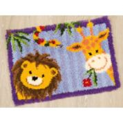 Vervaco Latch Hook Rug Kit Lion Giraffe