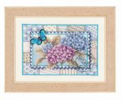 Vervaco Counted Cross Stitch Kit Hydrangea Stamp