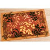 Vervaco Cross Stitch Rug Kit Autumn Leaves