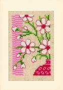 Vervaco Cross Stitch Kit Flower Card Set